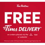 Tim Hortons promo offers up free delivery with in- app orders